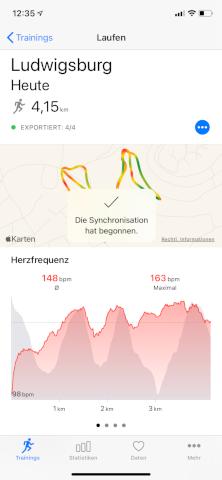 HealthFit - Apple Watch - Aktivität synchronisieren