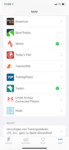 HealthFit - Apple Watch - Dienste