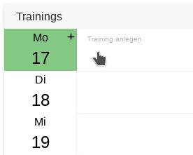 Neues Training anlegen