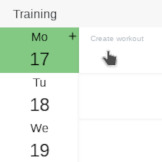 training erstellen und planen