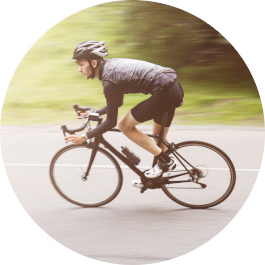 Intensitätssteuerung beim Fahrradfahren