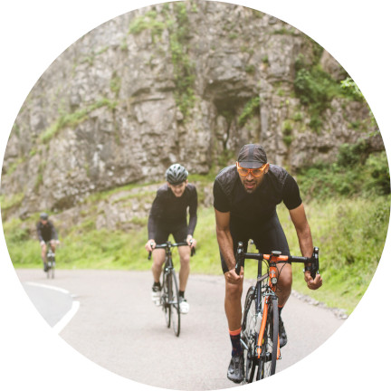 Radrennen in den Bergen der Cheddar-Schlucht